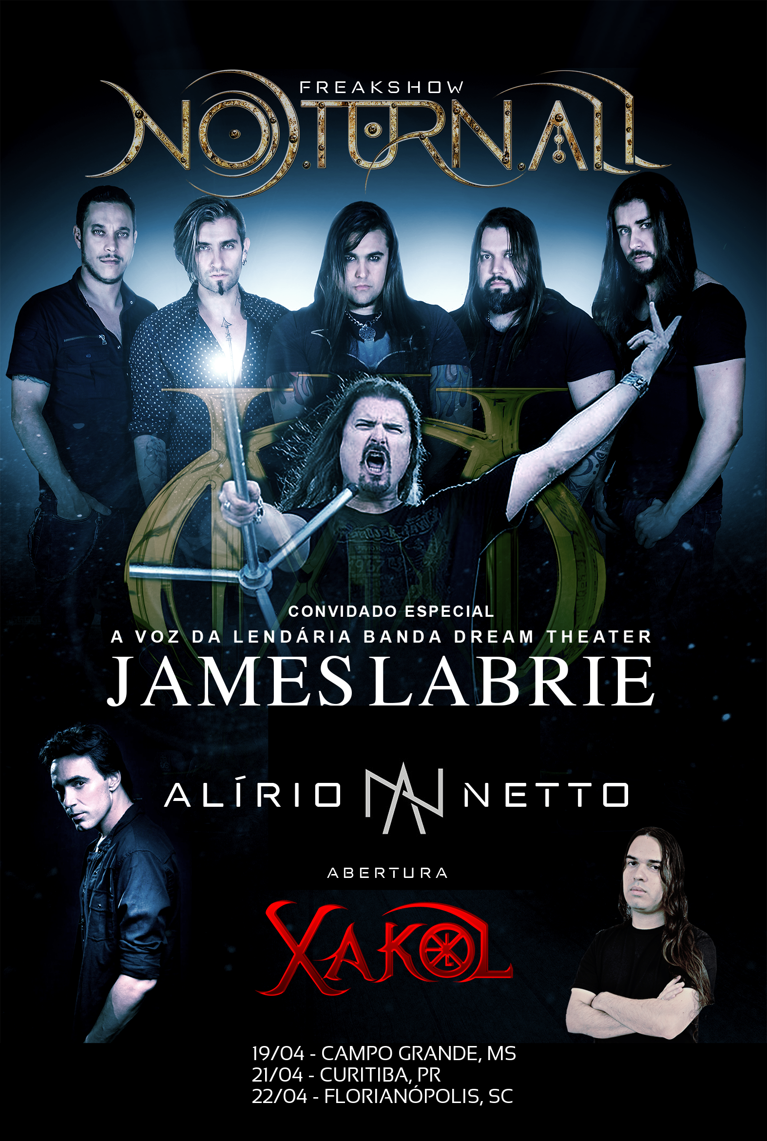 Tour supporting James LaBrie and Noturnall